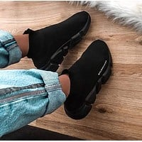 shosouvenir  Balenciaga Woman Men Boots Fashion Breathable Sneakers Running Shoes