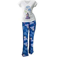 Eeyore - Gloomy Daze Juniors V-Neck Pajama Capri Set