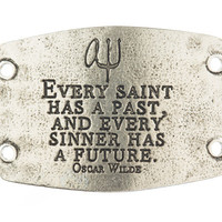"""Every Saint Has A Past And Every Sinner Has A Future"" Lenny and Eva Large Sentiment"