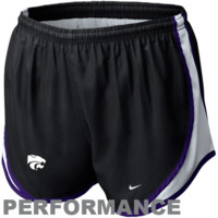 Nike Kansas State Wildcats Womens Tempo Performance Shorts - Black