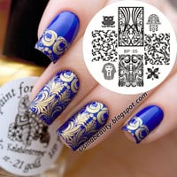 Egypt Style Nail Art Stamp Template Image Plate BORN PRETTY Nail Stamping Plates Set BP05