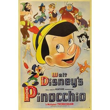 Pinocchio 27x40 Movie Poster (1940)