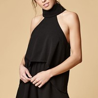 Reverse Olivia Layered Turtleneck Romper at PacSun.com