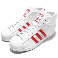 adidas Originals Pro Model Superstar White Red Mens Casual Shoes Sneakers S75928