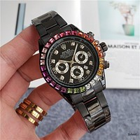 Rolex new colorful gemstone personality men and women casual business watch