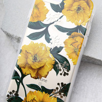 Sonix Poppy Clear and Yellow Floral Print iPhone 7 Case