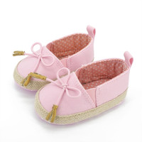 Baby Girl Shoes Newborn Toddler Girls Slip-on Soft Baby Shoes Canvas Sneakers Prewalker 0-18M First Walkers