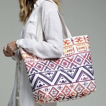 Ethnic Vibrant Tote bag shoulder handbag wristlet set