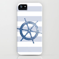 GLITTER HELM IN BLUE iPhone & iPod Case by colorstudio
