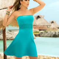 Strapless Summer Mini Dress-Light Summer Dresses