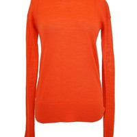 A.L.C. Exclusive Twisted Back Orange Long Sleeve Sweater