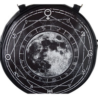Gypsy Gothic Witchcraft Magic Night Luna Full Moon Round Crossbody Bag