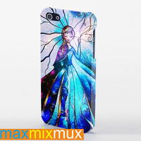 Elsa And Anna Disney Frozen Stained Glass Galaxy iPhone 4/4S, 5/5S, 5C Series Full Wrap Case