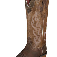 Cute Women's Ariat Crossfire Caliente Brown Cowgirl Boots