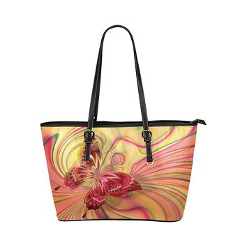 Vibrant Butterfly Style Tote Shoulder Bag