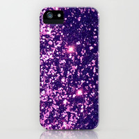 Purple Magenta Sparkle Blur iPhone Case by RexLambo | Society6