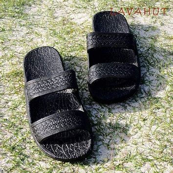Black Classic Jandals® - Pali Hawaii Sandals