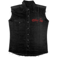 Motley Crue Men's  Bad Boys Work Shirt Black
