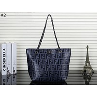 Fendi trend female fashion double F letter embossed shoulder bag diagonal female bag #2