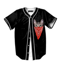 GANGSTA CAT BASEBALL JERSEY