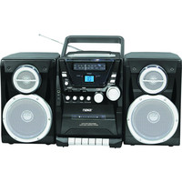 Naxa Portable CD Player with AM-FM Stereo Radio Cassette Player-Recorder & Twin Detachable Speakers