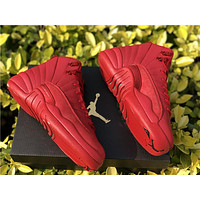 "Air Jordan 12 Retro ""Bulls Red"" Basketball Shoes 36--47."
