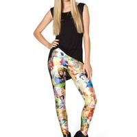 Stylish Leggings Princess Print Skinny Pants [6049131521]