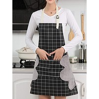 Plaid Pattern Apron