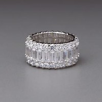 White Diamond CZ Forevermore Eternity Ring by Lenox from Lenox