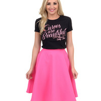 Black & Pink Curves Are Beautiful Classic Tee