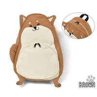 Japanese Style 2 Color Shiba Inu Backpack Women Girl Student Kids Bag Schoolbag Cute Gift