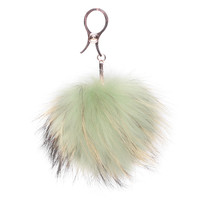Mint Furry Bag Charm