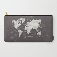 The World Map Carry-All Pouch by Mike Koubou