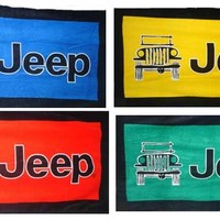"""All Things Jeep - Oversized 63"""" x 34"""" Jeep Towel-To-Go with Carabiner Clip"""
