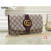 Gucci Fashion Lady Colour Printed Single Shoulder Bag Shopping Bag Coffee