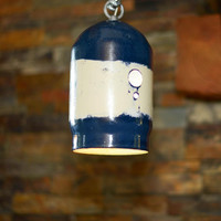 Large Blue and White Pendant Lamp 20% off HOLIDAY Sale