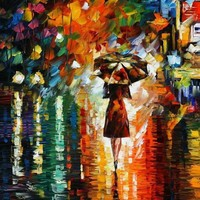 Rain Princess Painting by Leonid Afremov - Rain Princess Fine Art Prints and Posters for Sale