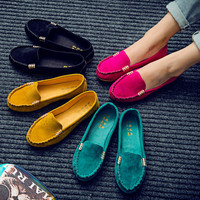 Shoes candy color mocassin style flats in size to 9.5