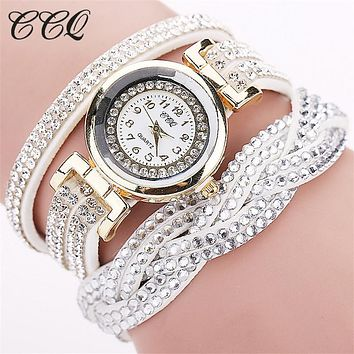Casual Quartz Women Rhinestone Watch