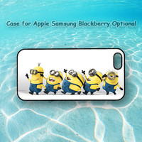 minions,iphone 5 case, iphone 4 case, ipod 4, ipod 5, Samsung note 2, Samsung galaxy S3, Samsung galaxy S4, blackberry z10,q10,Despicable me