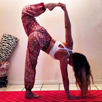 Boho Print Loose Thin Lantern Yoga Pants