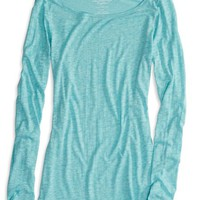 AEO Women's Real Soft Long Weekend Layering T-shirt