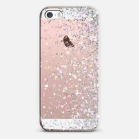 Silver Pastel Confetti Burst iPhone SE case by Organic Saturation | Casetify