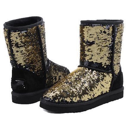Image of UGG Women Men Fashion Wool Snow Boots Half Boots Shoes