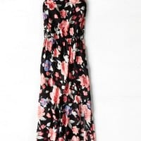 AEO Women's Floral Cinched Maxi Dress (Floral)