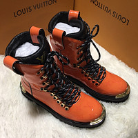 LV Louis Vuitton Women's Leather High Top Boots Shoes