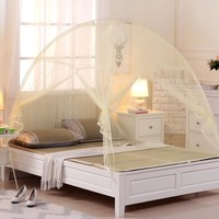 2018 New Summer Bi-parting Folding Mesh Insect Bed Mongolian Yurt Mosquito Net King/Queen Size Bedding Canopy Curtain Dome Tent