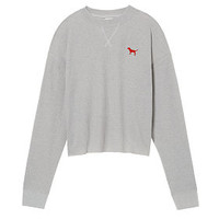 University Of Louisville Bling Long Sleeve Slouchy Waffle Tee - PINK - Victoria's Secret