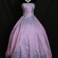 Once Upon A Time Snow White Emma Inspired Lavender Purple Ball Gown Dress Cosplay Costume