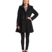 Betsey Johnson Corsett Fit and Flare Coat